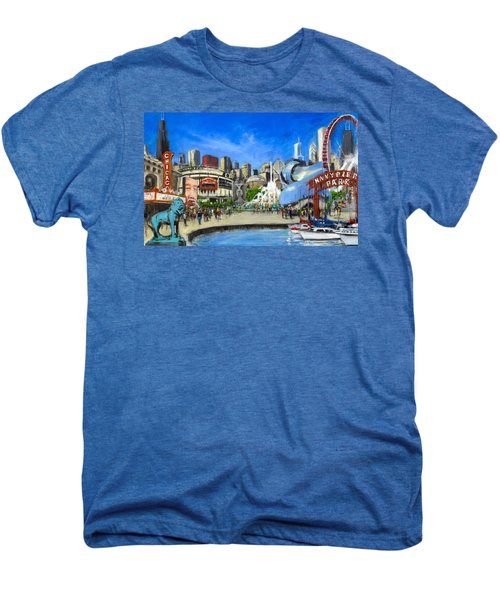 Impressions Of Chicago Men's Premium T-Shirt by Robert Reeves