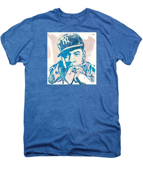 Jay-z  Etching Pop Art Poster Men's Premium T-Shirt