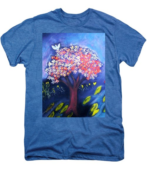 Men's Premium T-Shirt featuring the painting Joy by Winsome Gunning