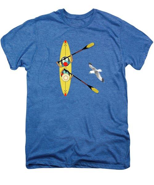 K Is For Kayak And Kittiwake Men's Premium T-Shirt by Valerie Drake Lesiak