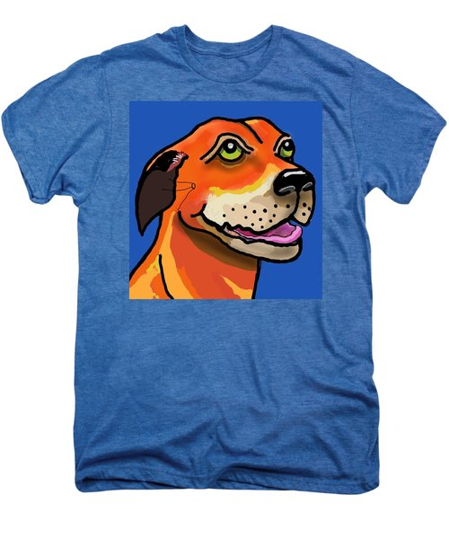 Kai With Blue Background Men's Premium T-Shirt