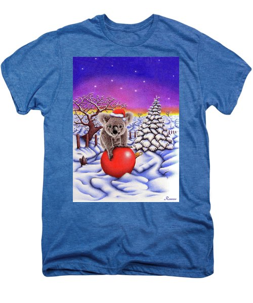 Koala On Christmas Ball Men's Premium T-Shirt by Remrov