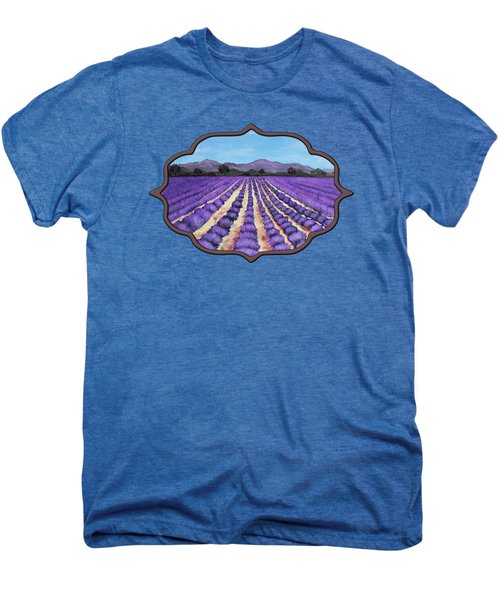 Lavender Field In Provence Men's Premium T-Shirt