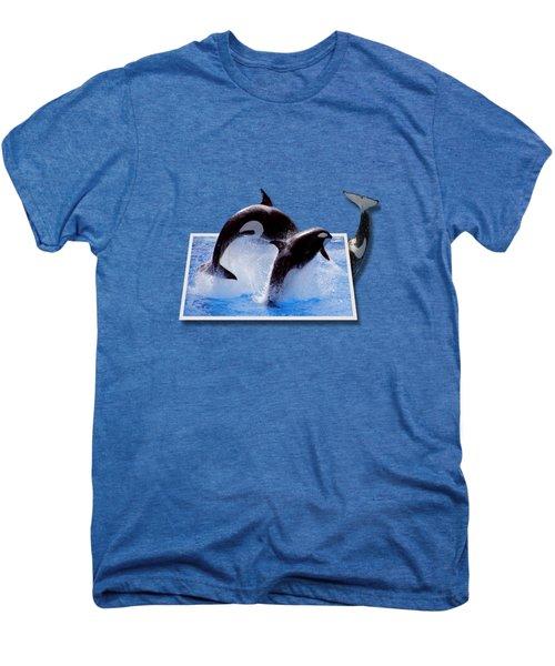 Leaping Orcas Men's Premium T-Shirt