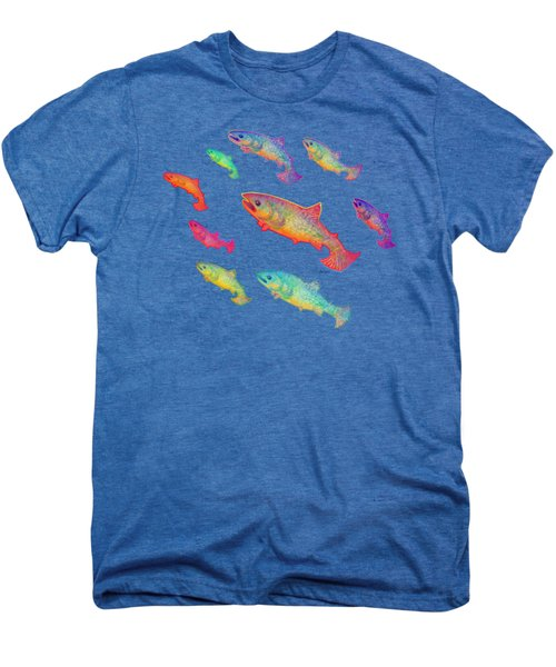 Leaping Salmon Shirt Image Men's Premium T-Shirt
