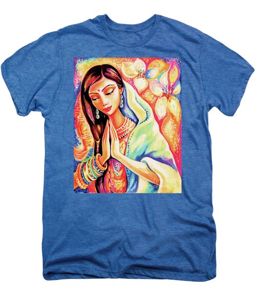 Men's Premium T-Shirt featuring the painting Little Himalayan Pray by Eva Campbell