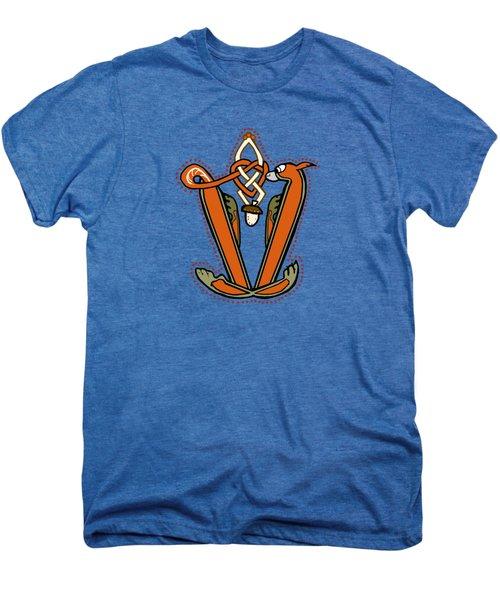 Medieval Squirrel Letter V Men's Premium T-Shirt by Donna Huntriss