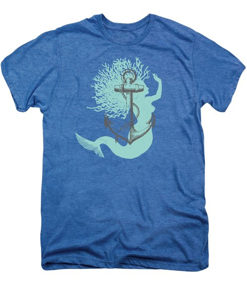 Mermaid And Anchor Men's Premium T-Shirt by Sandra McGinley