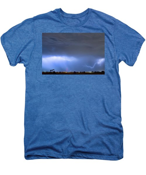 Men's Premium T-Shirt featuring the photograph Michelangelo Lightning Strikes Oil by James BO Insogna