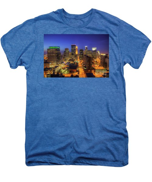 Minneapolis Skyline Art Marquette Avenue Men's Premium T-Shirt
