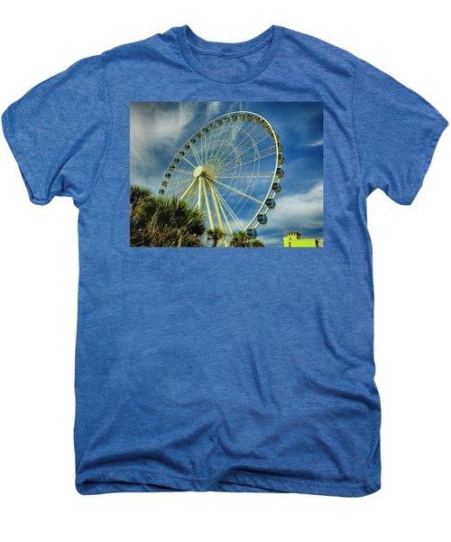 Myrtle Beach Skywheel Men's Premium T-Shirt by Bill Barber
