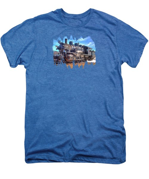 No. 25 Steam Locomotive Men's Premium T-Shirt by Thom Zehrfeld
