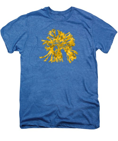 Men's Premium T-Shirt featuring the mixed media Ocean Seaweed Plant Art Rhodomenia Sobolifera Square by Christina Rollo