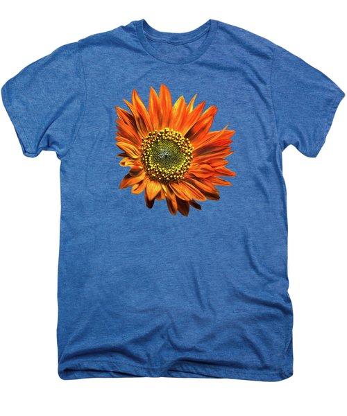 Orange Sunflower Men's Premium T-Shirt by Christina Rollo