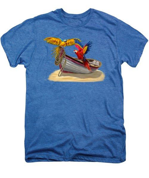 Parrots Of The Caribbean Men's Premium T-Shirt by Glenn Holbrook