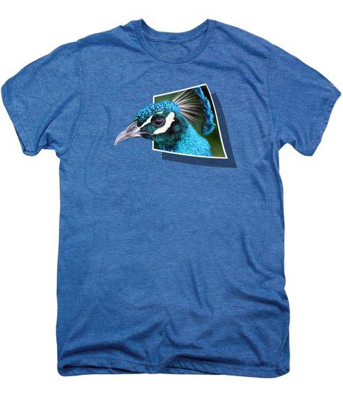 Peacock Men's Premium T-Shirt by Shane Bechler