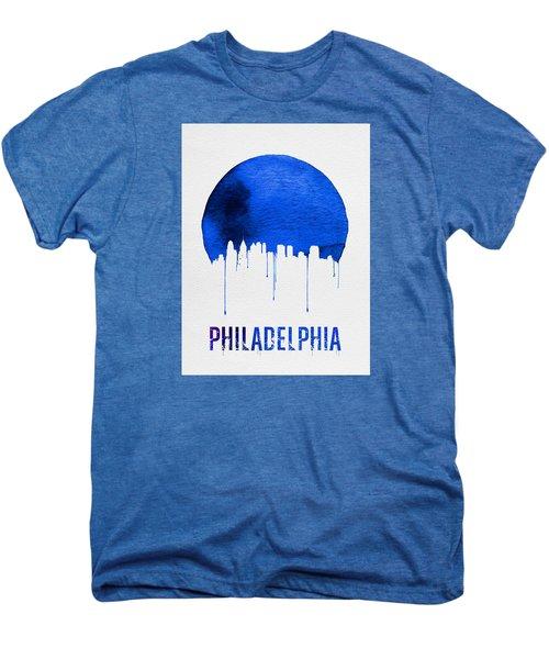 Philadelphia Skyline Blue Men's Premium T-Shirt by Naxart Studio