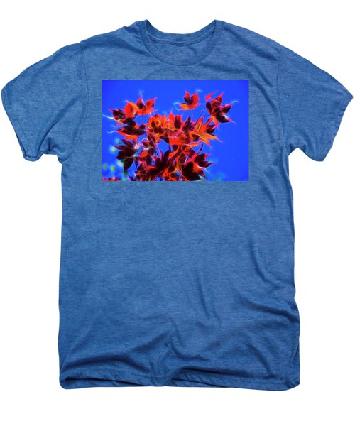 Men's Premium T-Shirt featuring the photograph Red Maple Leaves by Yulia Kazansky