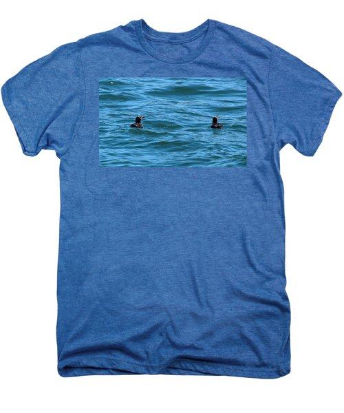 Rhinoceros Auklet Men's Premium T-Shirt by Linda Kerkau