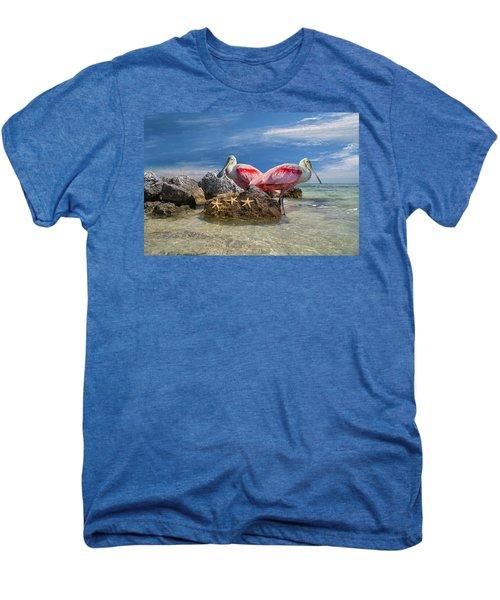 Roseate Spoonbill Florida Keys Men's Premium T-Shirt