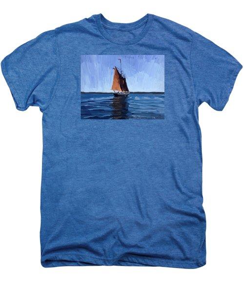 Schooner Roseway In Gloucester Harbor Men's Premium T-Shirt