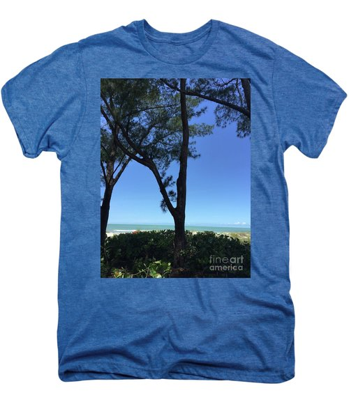 Seagrapes And Pines Men's Premium T-Shirt by Megan Cohen