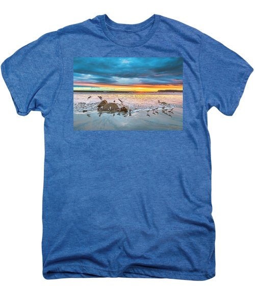 Seagull Sunset Men's Premium T-Shirt