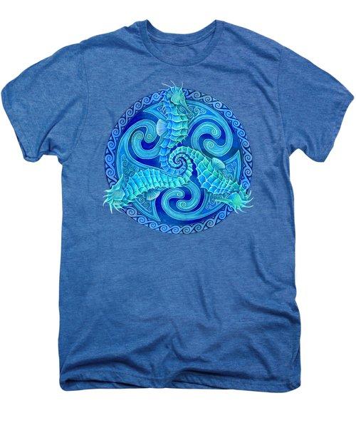 Seahorse Triskele Men's Premium T-Shirt by Rebecca Wang