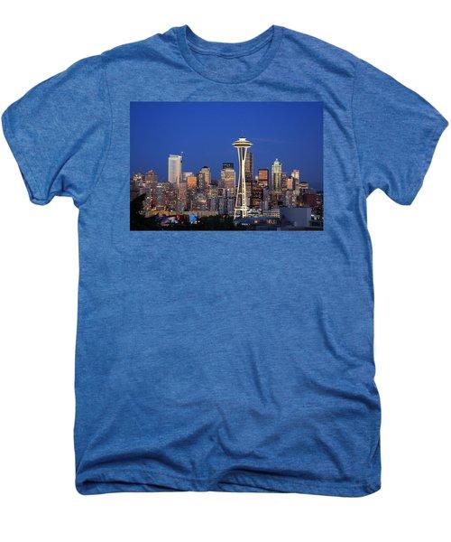 Seattle At Dusk Men's Premium T-Shirt