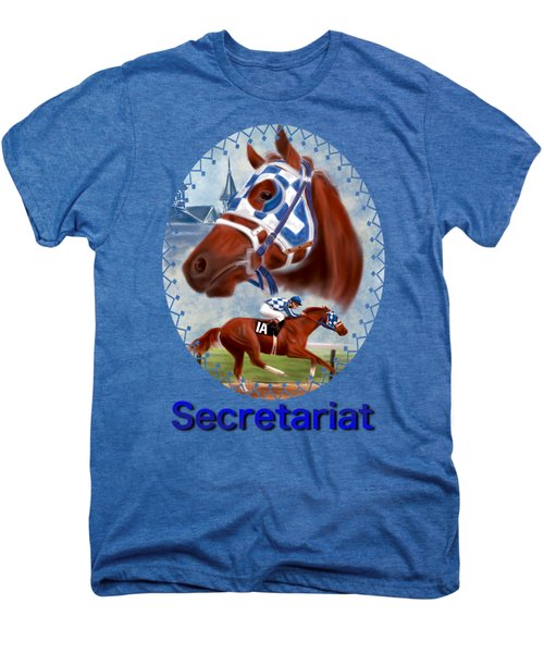 Secretariat Racehorse Portrait Men's Premium T-Shirt