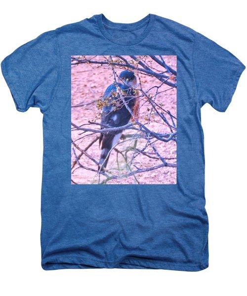 Sharp-shinned Hawk Hunting In The Desert 2 Men's Premium T-Shirt