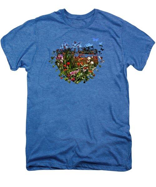 Siuslaw River Floral Men's Premium T-Shirt by Thom Zehrfeld