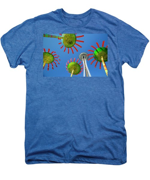 Men's Premium T-Shirt featuring the photograph Sonic Bloom In Seattle Center by Adam Romanowicz