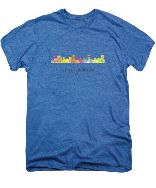 St Petersburg Florida Skyline Men's Premium T-Shirt by Marlene Watson