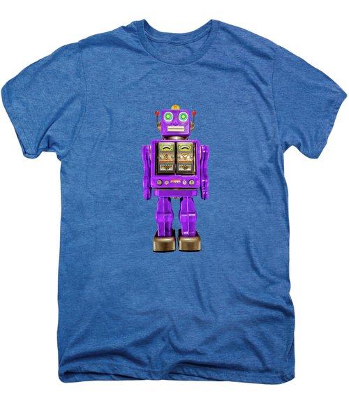 Star Strider Robot Purple On Black Men's Premium T-Shirt