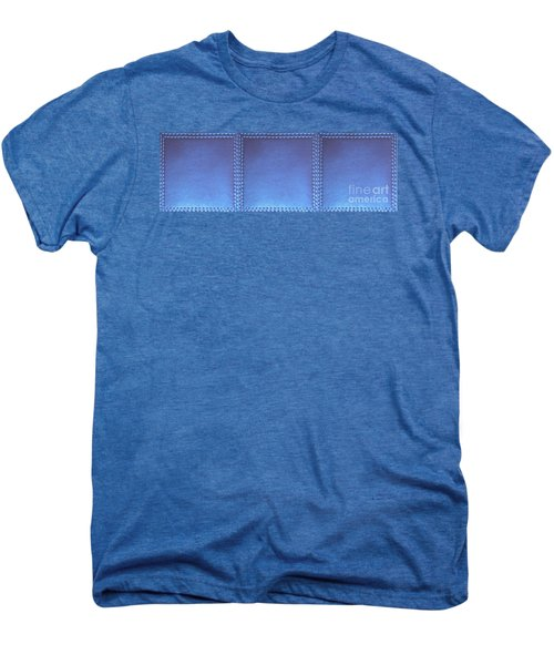 Stiched Leather Look Blue Abstract Wall Decorations By Navinjoshi At Fineartamerica.com Download Jpg Men's Premium T-Shirt