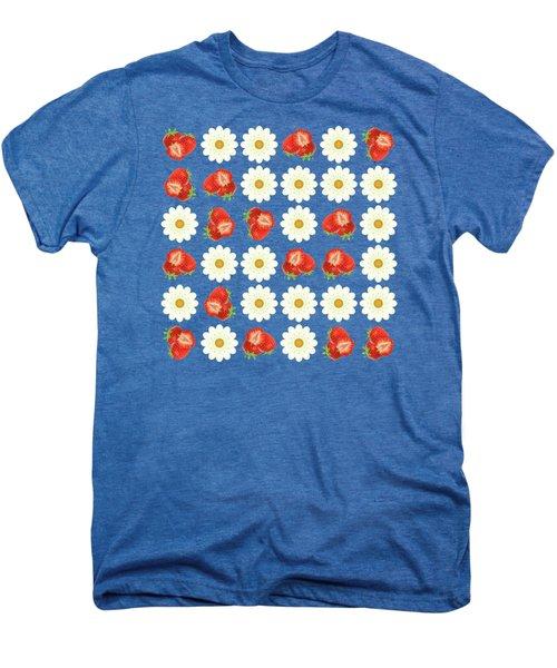 Strawberries And Daisies Men's Premium T-Shirt