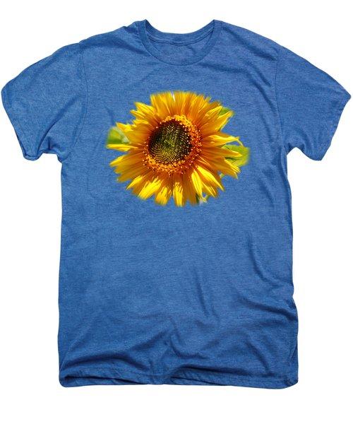 Sunny Sunflower Square Men's Premium T-Shirt by Christina Rollo