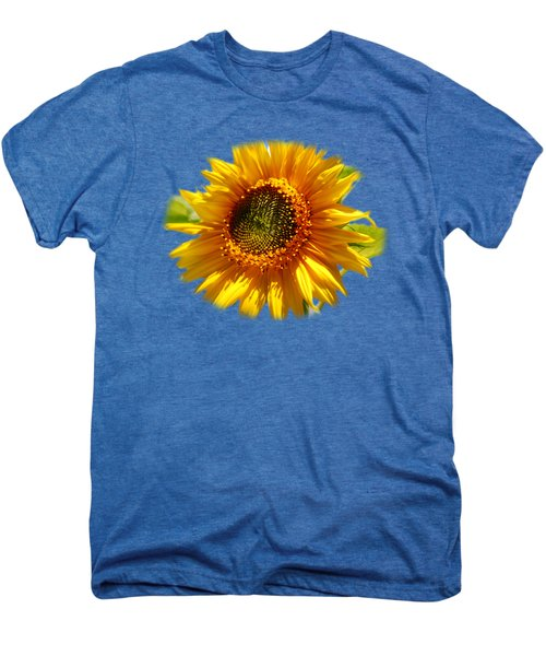 Sunny Sunflower Square Men's Premium T-Shirt