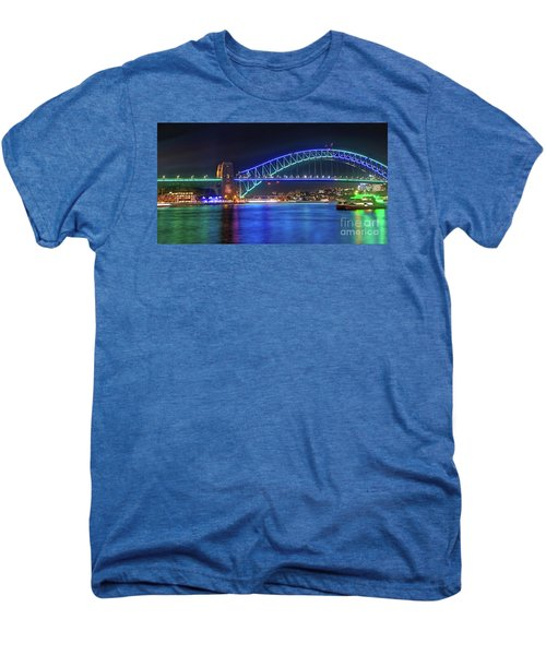 Sydney Harbour Green And Blue By Kaye Menner Men's Premium T-Shirt