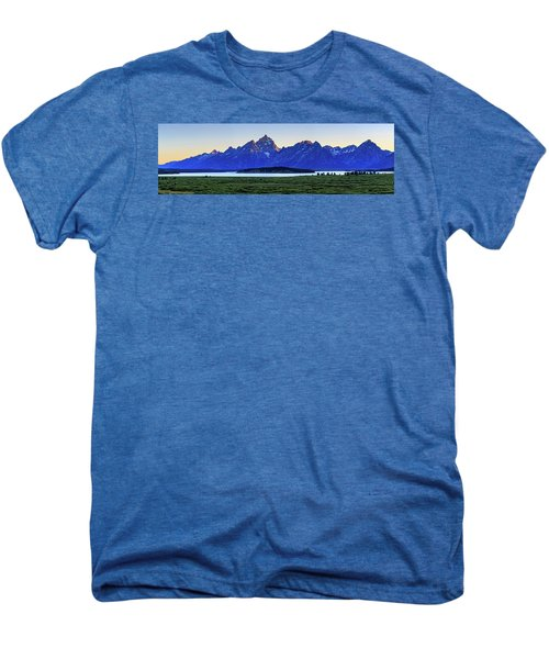 Men's Premium T-Shirt featuring the photograph Teton Sunset by David Chandler