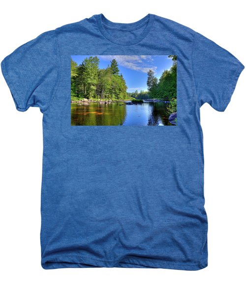 Men's Premium T-Shirt featuring the photograph The Calm Below Buttermilk Falls by David Patterson