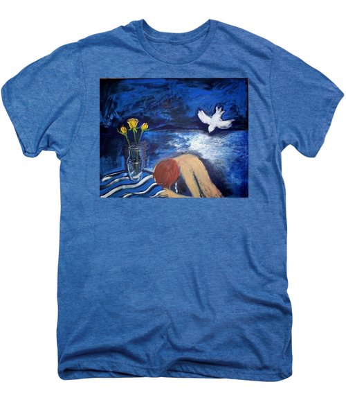 Men's Premium T-Shirt featuring the painting The Healing by Winsome Gunning