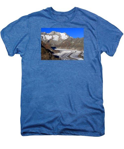 The Large Aletsch Glacier In Switzerland Men's Premium T-Shirt