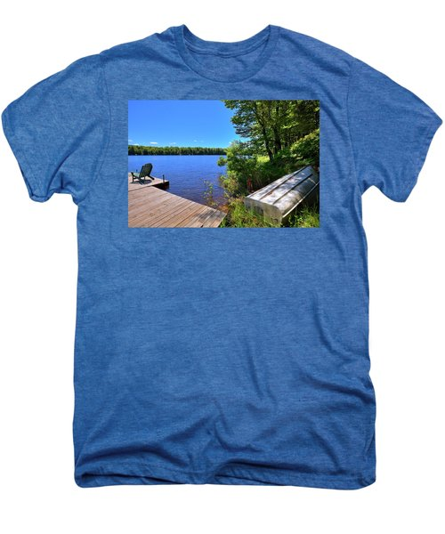 Men's Premium T-Shirt featuring the photograph The Rowboat On West Lake by David Patterson