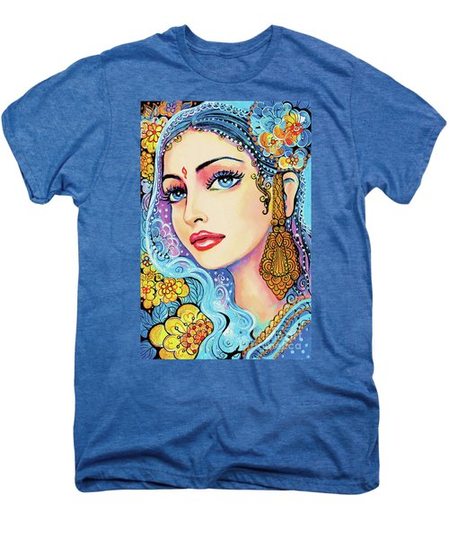 Men's Premium T-Shirt featuring the painting The Veil Of Aish by Eva Campbell
