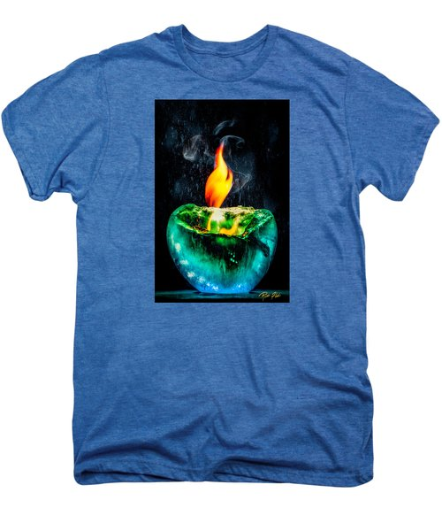 Men's Premium T-Shirt featuring the photograph The Winter Of Fire And Ice by Rikk Flohr