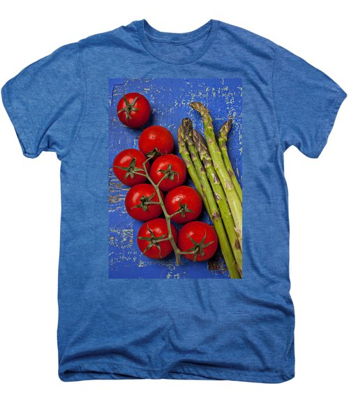 Tomatoes And Asparagus  Men's Premium T-Shirt by Garry Gay