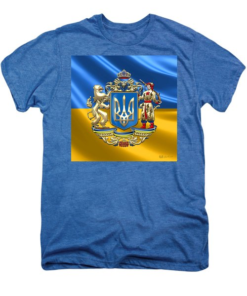 Ukraine - Greater Coat Of Arms  Men's Premium T-Shirt