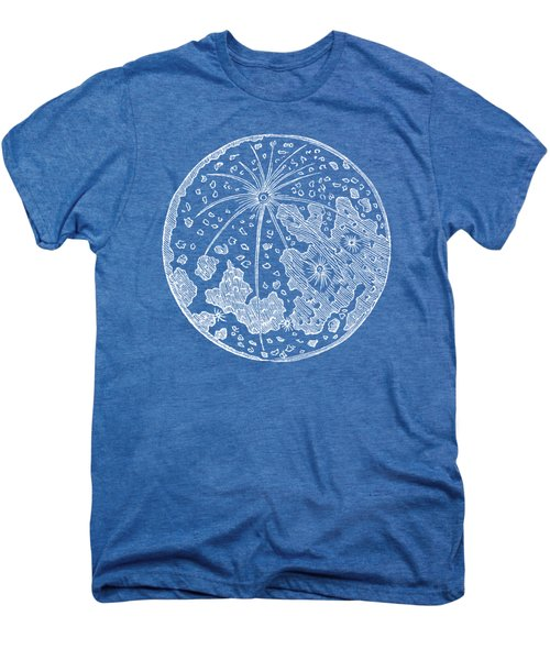 Vintage Planet Tee Blue Men's Premium T-Shirt by Edward Fielding